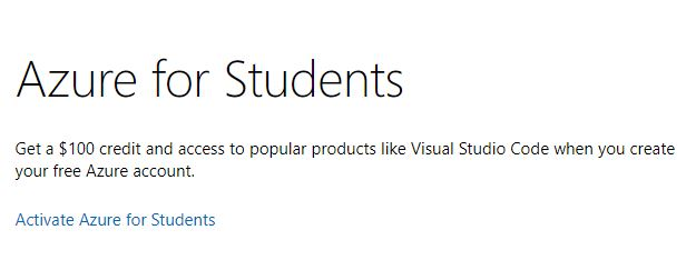 Activate Azure for Students