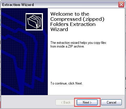 Welcome to the Compressed (zipped) Folders Extraction Wizard