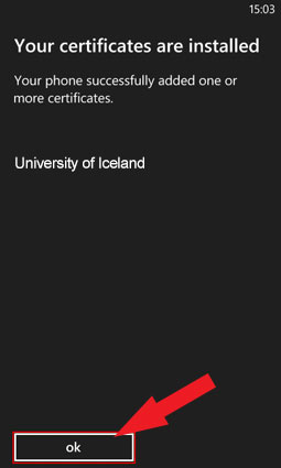Your certificates are installed