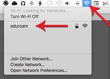 Choose eduroam