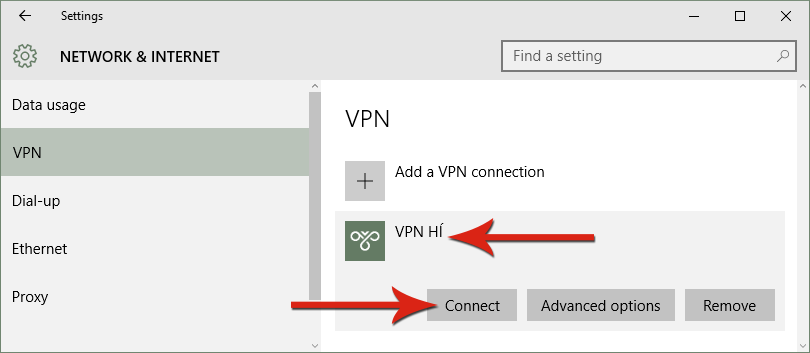 Connect VPN HÍ