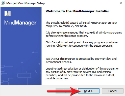 Welcome to the Mindjet MindManager Installer