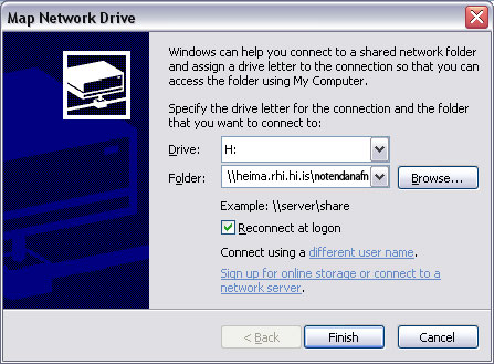 Map Network Drive