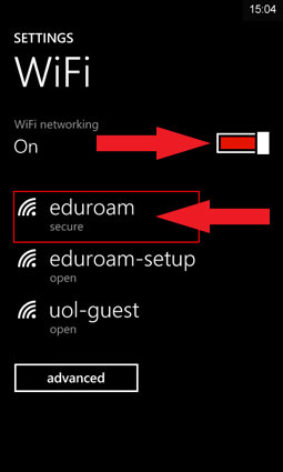 WiFi settings
