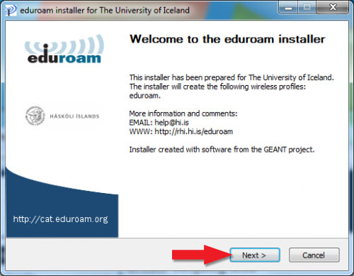Welcome to the eduroam installer