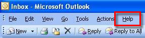 Help - About Microsoft Outlook
