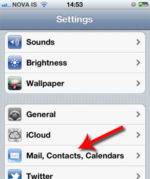 Mail, Contacts, Calendar