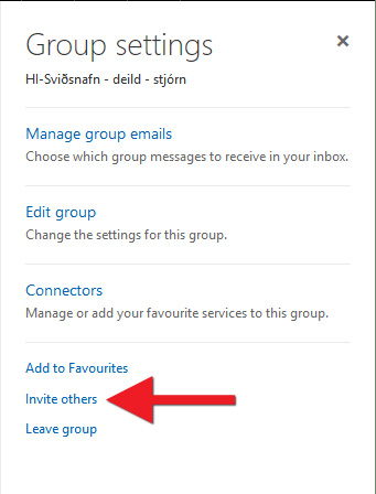"Smelltu á ""Invite others"""