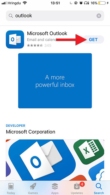 Setting up a UI mailbox in Outlook for iPhone and iPad